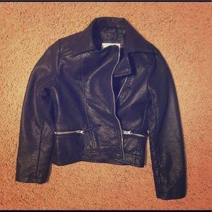 Faux leather jacket by Xhilaration girls size M